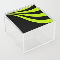 Lime Wave Acrylic Box by laec Good Advice For Life, Storage Places, Acrylic Box, Waves, In This Moment, Store, Storage, Business, Wave