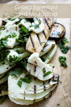 grilled haloumi, aubergine & mint salad with pomegranate dressing ...