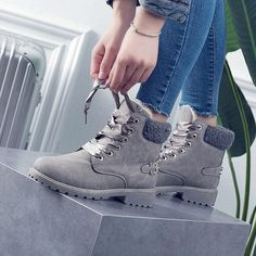 Winter Fashion Women s warm ankle boots round toe female snow boots 47565173e0c53