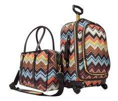 Missoni for Target is almost hereeee! I want this luggage set badddd. Sept 13th
