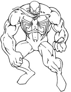 Spiderman Venom Consisting Of Great Coloring Pages - Spiderman cartoon coloring pages