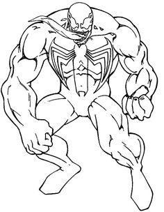 Spiderman Venom Consisting Of Great Coloring Pages - Spiderman cartoon coloring pages