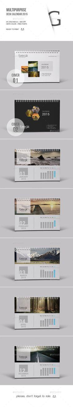 Multipurpose Desk Calendar 2015 - Calendars Stationery                                                                                                                                                                                 More