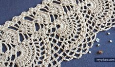 MyPicot is always looking for excellence and intends to be the most authentic, creative, and innovative advanced crochet laboratory in the world. Filet Crochet, Beau Crochet, Crochet Lace Edging, Crochet Diy, Crochet Hook Set, Easy Crochet Projects, Crochet Motifs, Crochet Borders, Crochet Crafts