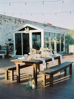 Southwestern Bohemian Wedding Inspiration | Design, Styling & Floral: Yellow Rose Co. Events | Photography: Deisy Photography | Table & Napkins: Mood Party Rentals | Venue: Plenty Mercantile #bridesofok #wedding #tabletop