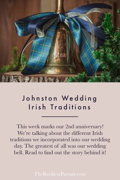 Since we just celebrated our 2 year wedding anniversary, we wanted to share with you the ONE unique Irish tradition we incorporated on our wedding day. #weddingbells #irishwedding #irish #traditions