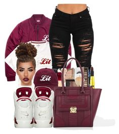 """Lit"" by ballislife ❤ liked on Polyvore featuring Love Moschino and Lime Crime"