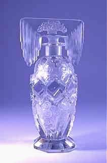 Morlee Czech Art Deco Perfume Bottle