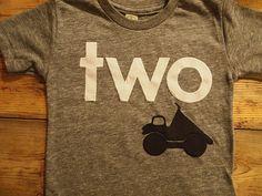 Truck shirt bulldozer dump truck truck theme birthday party boys birthday shirt construction black  white grey on Etsy, $34.00