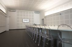 Suite 5 - boardroom style for 40 people with Kartell chairs