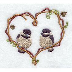 machine embroidery projects | Embroidery Library, Chickadee, Designs In Machine Embroidery