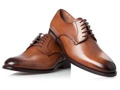 SHOEPASSION.com - No. 532 - Rahmengenähter Plain Derby in Braun Gents Shoes, Club Of Gents, Brown Derby, Der Gentleman, Sneaker, Oxford Shoes, Dress Shoes, Lace Up, Accessories