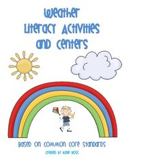 This 69 page packet is full of weather words Literacy activities and centers.  Includes activities, weather journals, centers, a matching game, and...