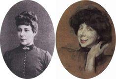 Слева – А. К. Бенуа, фото. Справа – В. Серов. Анна Карловна Бенуа, 1908 | Фото: hrono.ru и artchive.ru