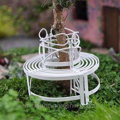 Mini Circular Benches White