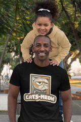 Add a bit a flavor to your wardrobe with this #fun #urbanculture #cat #tee #rshirt #urban #streetart #urbanclothing #daddyanddaughter #meow #cats