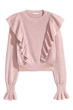 Sweter z falbanami
