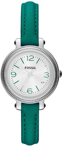 Fossil Watches, Women's Heather Three Hand Leather Watch - Teal #ES3333