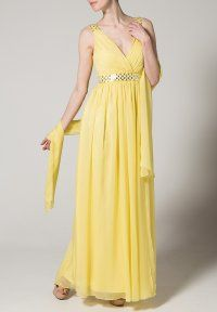 Unique - Robe de cocktail - jaune