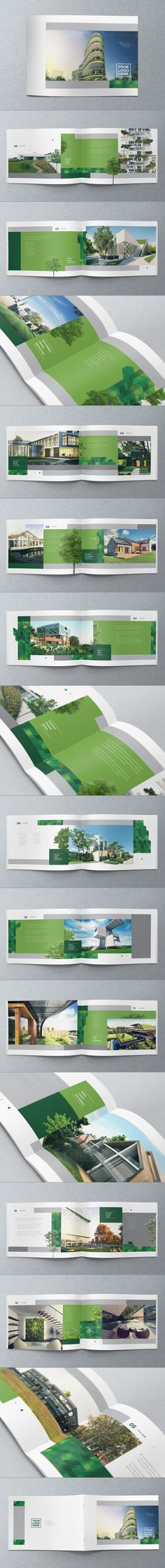 Similar to the idea I have for when I recreate my portfolio. Brochure Design by Abra Design, via Behance