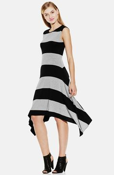 Vince Camuto Stripe Asymmetrical Hem Maxi Dress available at #Nordstrom