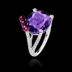 White Gold Amethyst Ring G34H1000 - Piaget Luxury Jewelry