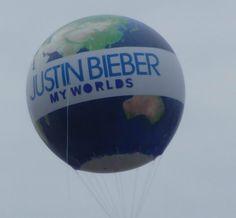 My Worlds Tour Balloon-Justin Bieber