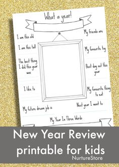16 countdown activities for New Year's Eve for kids - NurtureStore New Year's Eve Activities, Printable Activities For Kids, New Year Printables, Free Printables, Kids Questions, This Or That Questions, Kids New Years Eve, New Year's Games, Journaling
