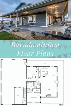 Barn Homes Floor Plans, Loft Floor Plans, Barndominium Floor Plans, Pole Barn House Plans, Pole Barn Homes, Shop House Plans, New House Plans, Dream House Plans, Small House Plans
