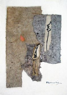 """dailyartjournal: Paul Horiuchi, """"Wards of the Past"""", mixed media collage"""