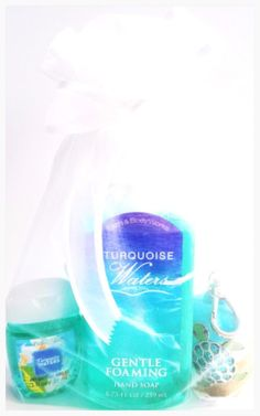 Bath & Body Works Turquoise Waters Hand Soap, PocketBac & Turtle Holder #BathBodyWorks
