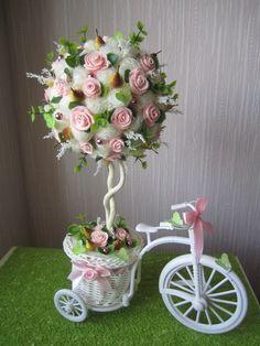 Centro de mesa triciclo