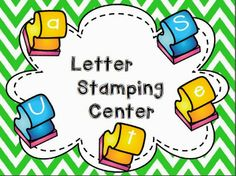 Maggie's Kinder Corner: A Quick Letter Stamp Stand-up Center Kit and a FREEBIE