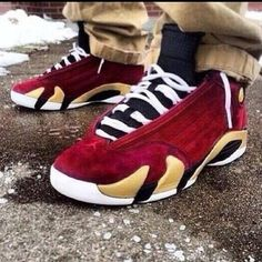 "Air Jordan 14 Retro ""Chilling Red"" 654459-670"