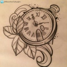 60 New Ideas Tattoo Compass Drawing Pocket Watches Clock Tattoo Design, Tattoo Design Drawings, Tattoo Sketches, Tattoo Designs, Old Clock Tattoo, Clock Tattoos, Pocket Watch Tattoos, Pocket Watch Drawing, Pocket Watch Tattoo Design