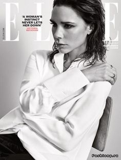 Виктория Бекхэм на обложке майского Elle UK