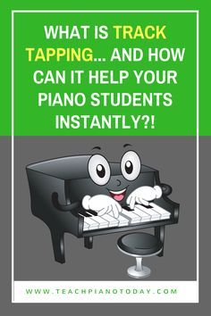 """A quick piano teaching video to demo """"track tapping"""" and everything you need to know to use it to teach rhythm to young piano students!"""