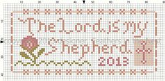 Feathers in the Nest: The Lord is my Shepherd Free Cross Stitch Charts, Cross Stitch Freebies, Cross Stitch Bookmarks, Cross Stitch Heart, Cross Stitch Designs, Cross Stitch Patterns, Cross Stitching, Cross Stitch Embroidery, Cross Stitch Needles