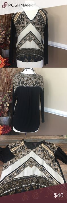 HALEBOB beautiful blouse NWOT This blouse is brand new & stunning.. back is solid black & a little stretchy.. it's an XS but pretty sure a small can fit just fine Hale Bob Tops Blouses