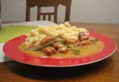 Temesvári sertéstokány Risotto, Ethnic Recipes, Food, Red Peppers, Essen, Yemek, Meals