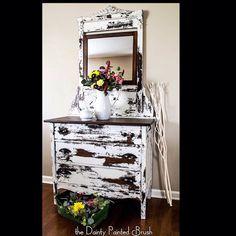 White Painted furniture custom order shabby chic - painted dresser - farmhouse #affiliate #furniture #paintedfurniture #homedecor