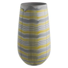 MOWAT Grey and yellow patterned vase   Buy now at Habitat UK