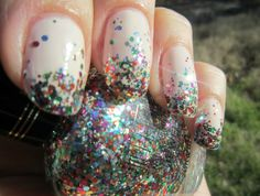 i'm totally doing this when i get my Milani Gems nail polish