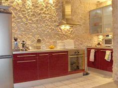 #diseño De #cocinas #decoración #linea3 Cocina #Madrid. Revestimiento De  PiedraPaneles De ParedParedes ...