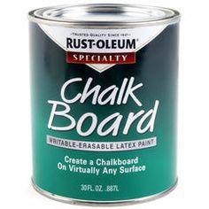 Black Chalkboard Paint