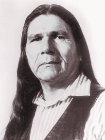 Dennis Banks, Native American leader, teacher, lecturer, activist, and author, was born in 1932 on the Leech Lake Indian Reservation in northern Minnesota. In 1968, he helped found the American Indian Movement (AIM), which was established to protect the traditional ways of Indian people and to engage in legal cases protecting treaty rights of Native Americans,  He's best known for leading the 1973 occupation by militant Indians of Wounded Knee
