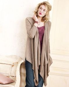 Cashmere Long Draped Cardigan ooooh my ,   I may have to have this