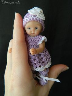 OOAK Hand Sculpted Polymer Clay Baby Girl Art Doll