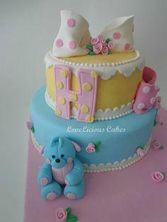 Colorful Pastel Polka Dots Birthday Cake