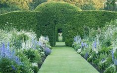 along the double Pastel Borders in June, Levens Hall. -Great Gardens Of Britain by Helena Attlee (with photographs by Alex Ramsey)